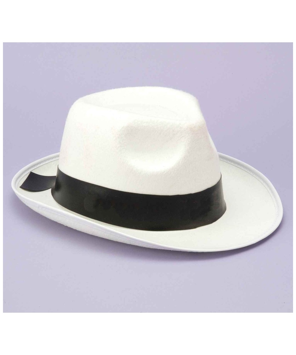 579839aad27 White Gangster Hat Adults - Men Costumes