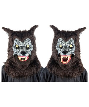 Animated Brown Werewolf Mask