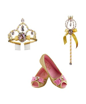 Belle Shoes W Tiara Costume Accessory Set