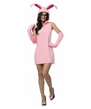 Pink Bunny Costume Dress Ladies