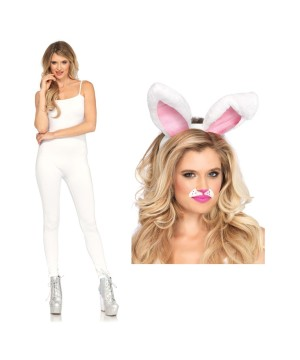 White Bunny Woman Costume
