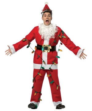 Christmas Vacation Faux Lights Santa Suit Costume