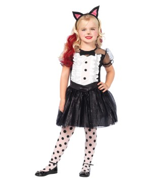 Costume Animal Tuxedo Dress Black Tail Ears