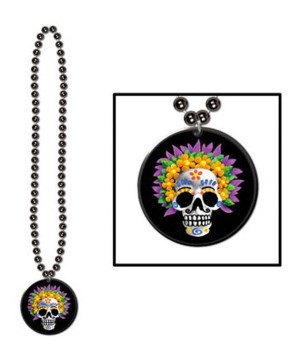 Day of the Dead Beads Medallion Necklace