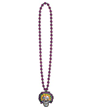 Day of the Dead Beads Skull Necklace