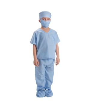 Blue Doctor Scrubs Costume
