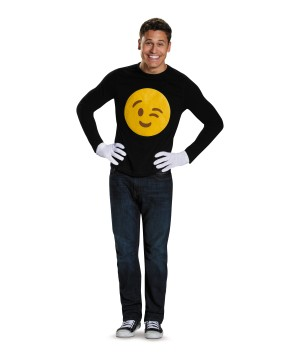 Emoticon Wink Costume Kit
