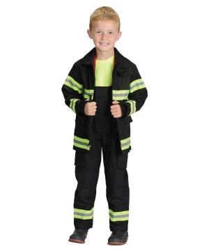 Firefighter Costume Black