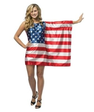 Flag Dress Usa Costume