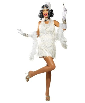 White Flapper Dress Woman Costume