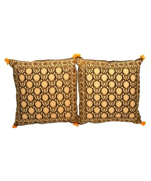 Floral Pattern Cotton Cushion Covers 2 Pieces