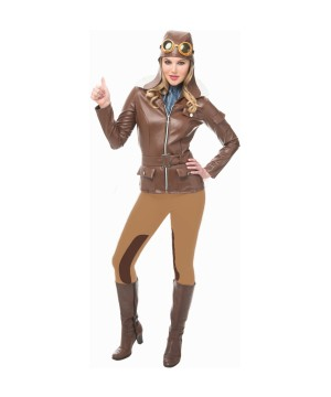 Flying Pilot Woman Costume