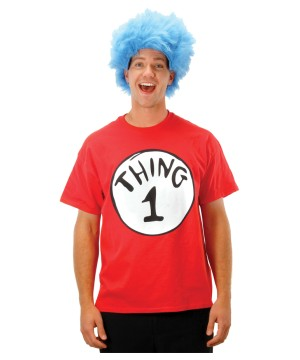From Cat in the Hat Shirt Wig Costume Kit