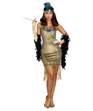 Golden Flapper Dress Costume