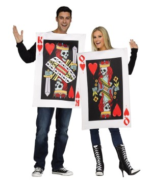 Heart Playing Cards Couples Costume