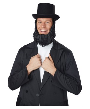 Honest Abe Top Hat Beard Costume Kit