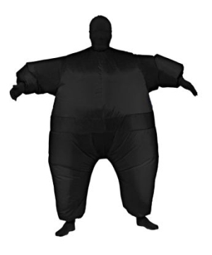 Inflatable Adult Costume Black