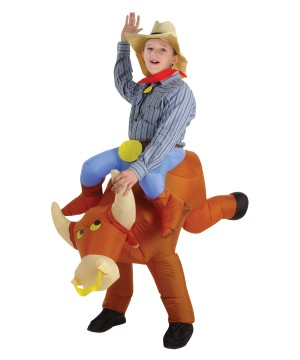 Inflatable Bull Riding Costume
