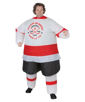 Inflatable Hockey Player Costume
