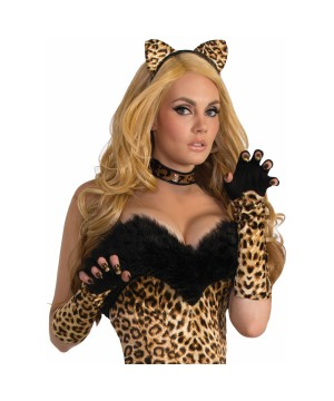 Leopard Costume Gloves