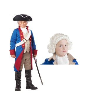 Patriot Wig Costume Set