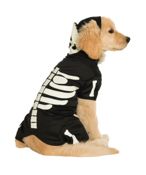 Pets Costume Skeleton Canine Dark