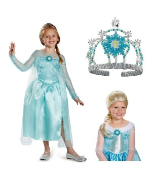 Princess Elsa Snow Queen Costume Kit