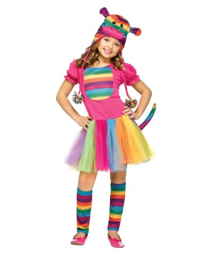 Rainbow Sock Monkey Costume  sc 1 st  Wholesale Party Costumes : girls nerd costume  - Germanpascual.Com