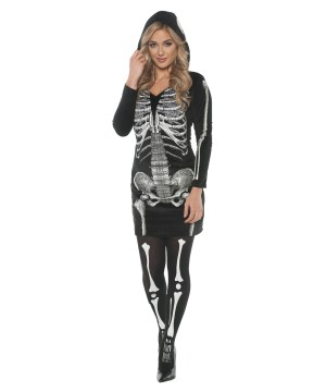 Skeletal Hoodie Dress