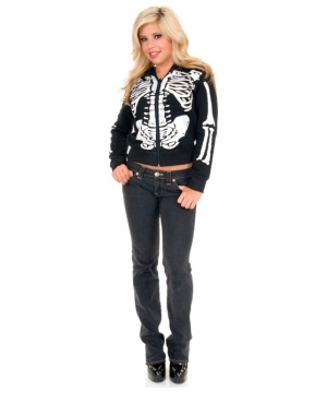 Skeleton Female Hoodie Costume