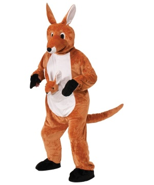 The Kangaroo Mascot Adult Costume