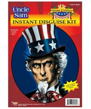 Uncle Sam Instant Disguise Costume Kit Hat and Beard