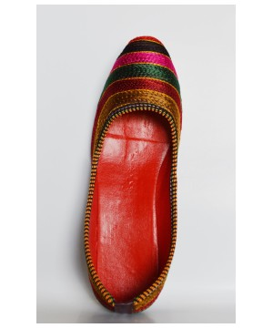 Woven Pattern Hcrafted Shoes From India