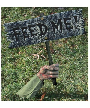 Zombie Feed Me Sign